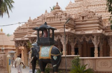side view of jain mandir