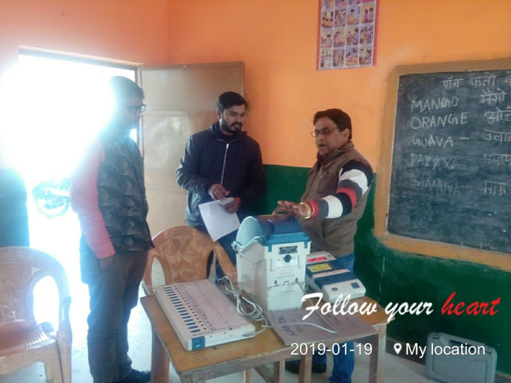 Sveep and EVM VVPAT activities