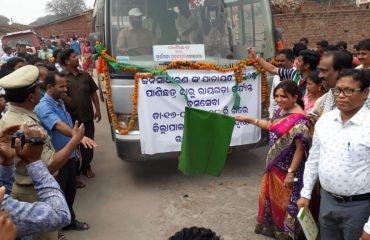Collector, Rayagada Inaugurating Bus Service