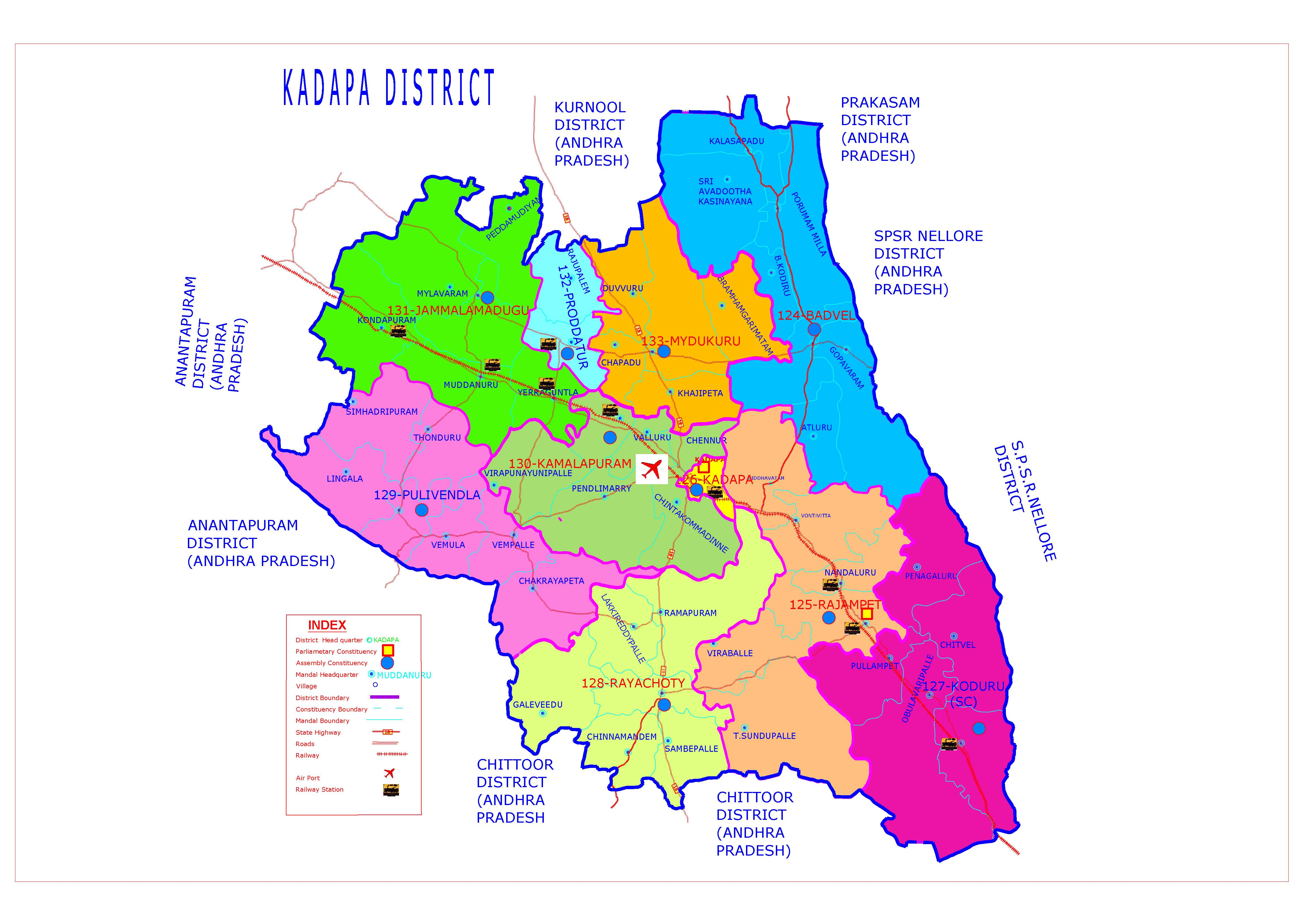 Kadapa District Map