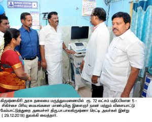 Honble minister opening new ward