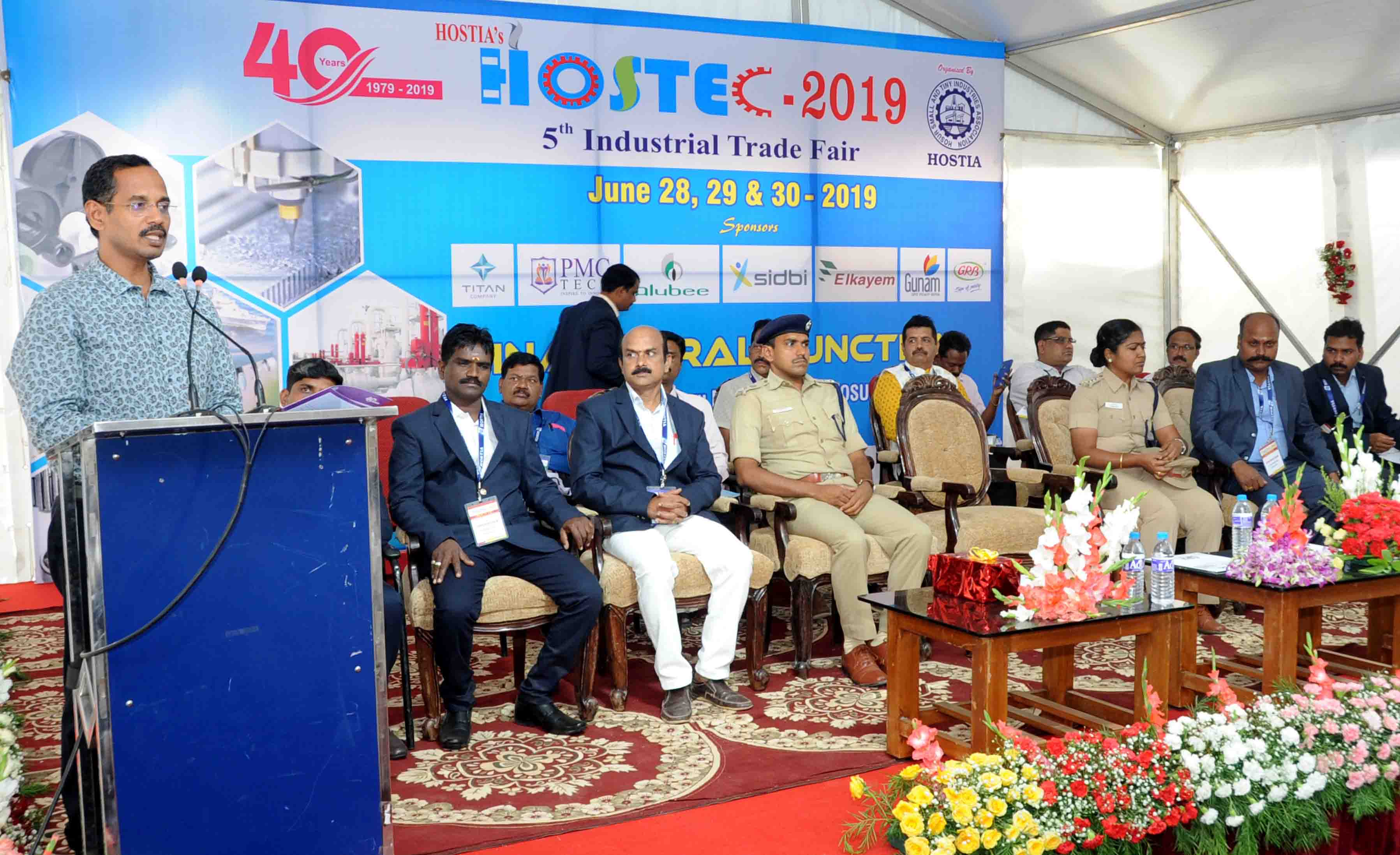 collector inaugurated hostec trade fair