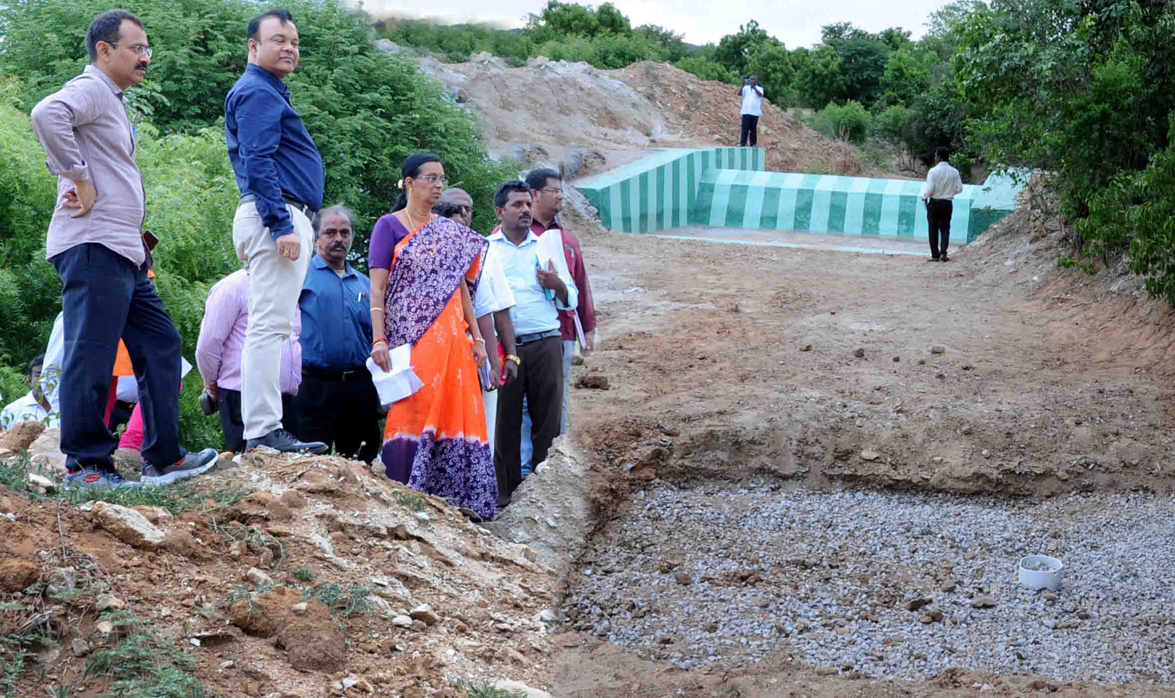 water management team visiting at megalachinnampalli
