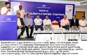 Hon'ble minister inaugurated the ease of doing business in tamilnadu