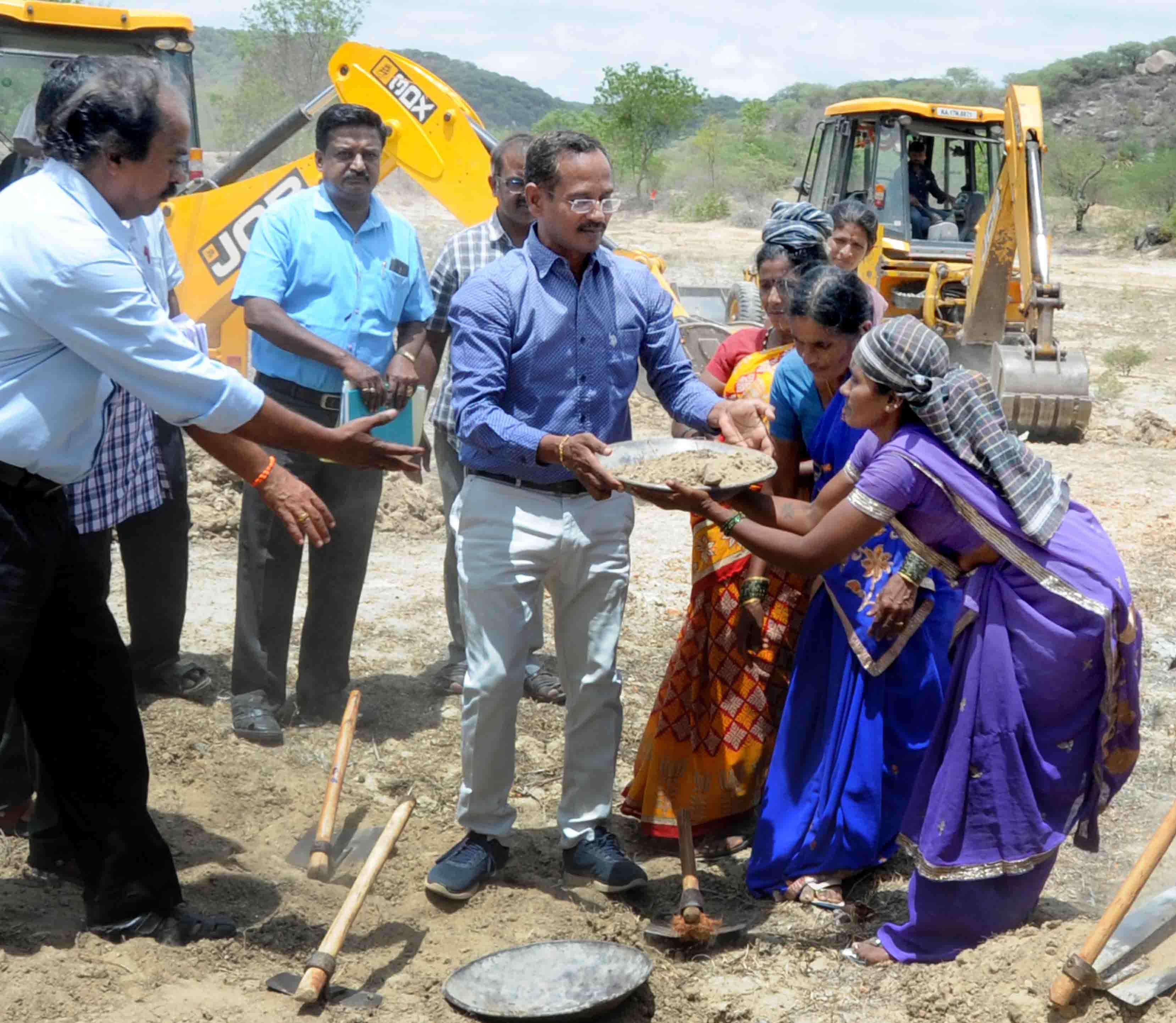 collector initiated lake desalting work