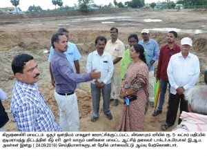 inspection at linga puram lake