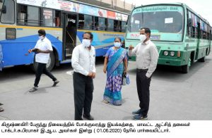Collector - Krishnagiri New Bus Stand Inspection
