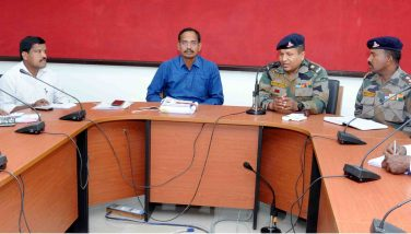 Collector with commending officers