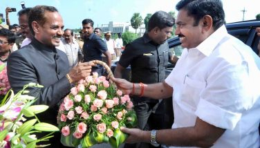 Dist Collector Received the Honble Tamilnadu C.M