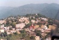 Aerial view of Nahan Town