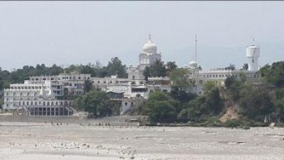 View of Gurudawara Paonta Shib from Yamuna River