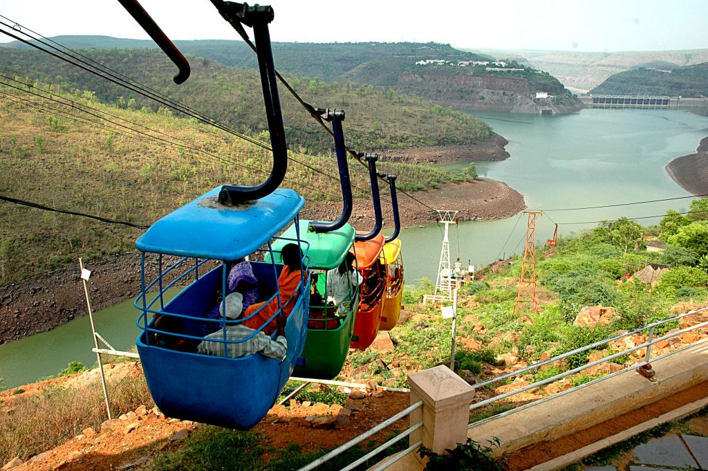 Rope way at Srisailam