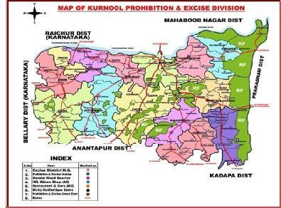 Excise Map Kurnool