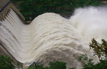 Water flow from Dam