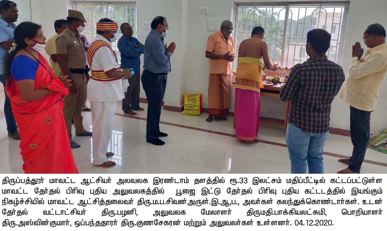 District Collector inaugurated Election Section New Building 04-12-2020