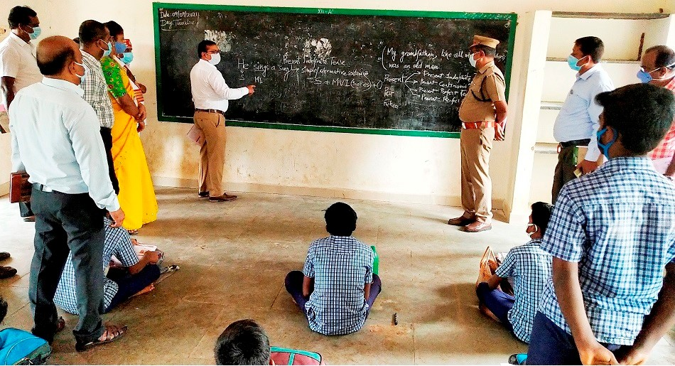 District Collector Taken English Subject for 11th Student