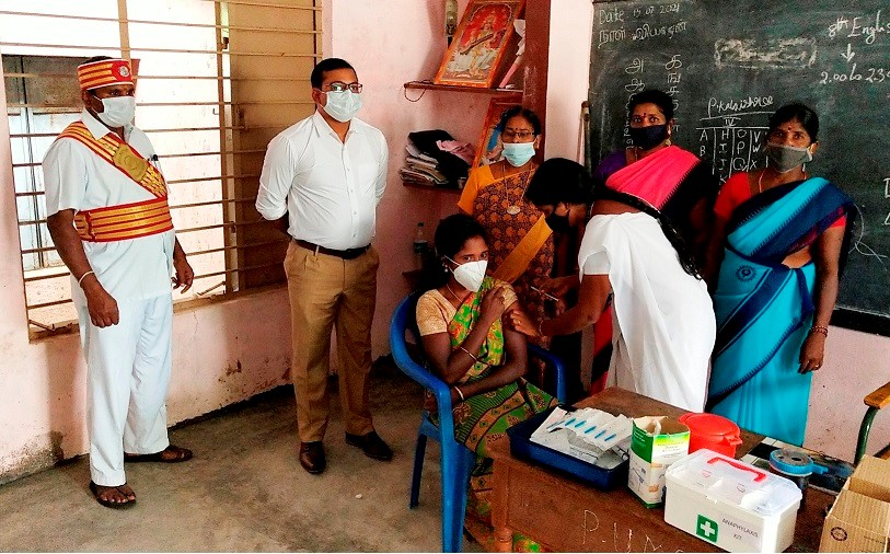 District Collector Inspection Mega Vaccination Camps