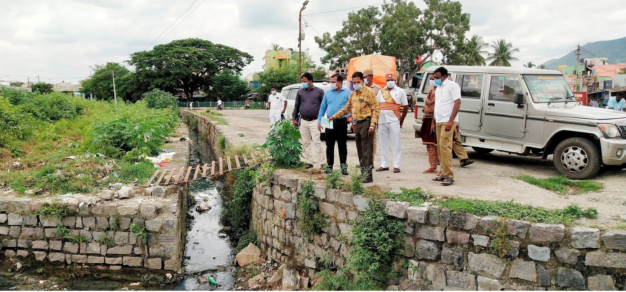 District Collector Inspection cleaning