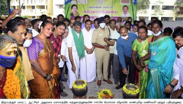 Honorable Commercial Tax Minister K C Veeramani Celebrated Pongal at Orphanage 12-01-2021