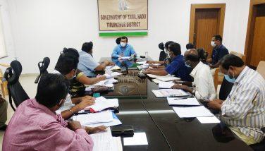 District Review meeting regarding municipalities work
