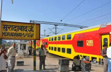 Double Decker Arrival Railway Station Moradabad