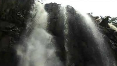 Jhojha waterfall, about 45 km near Bastibgara Gram Panchayat, located at the end of Gorela Block