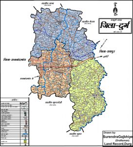 Map of District Durg
