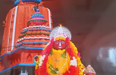 The Temple of Maa Dhamarai with animated Goddess