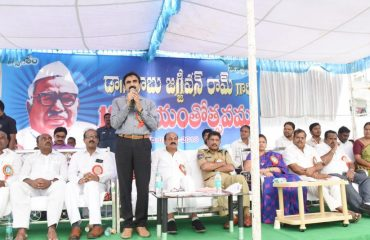 Collector addressing the gathering