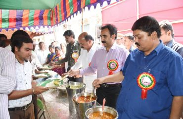 Collector is serving food