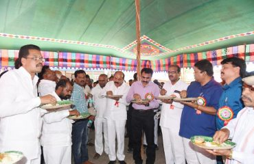 Collector and officers having lunch