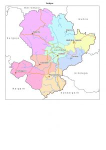 Jashpur District bharat map