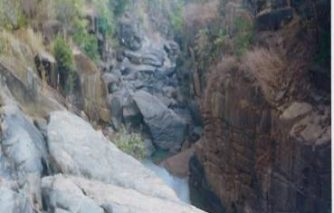 Ranidah waterfall on site