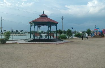 Sitting area for visitors at mini tank bund siddipet