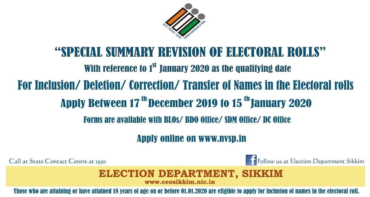 Special Summary Revision of Electoral Rolls 2020