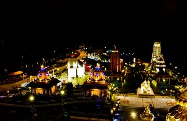 Night view of Chardham