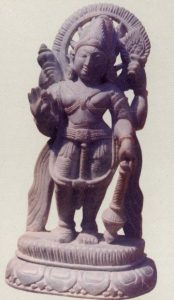 Beautiful stone curved statue of Bishnu