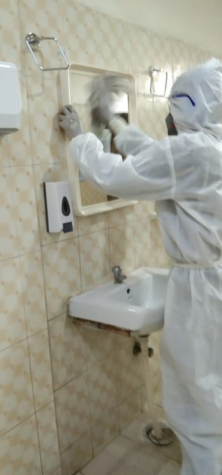 Disinfection, Sanitation,BMW, Housekeeping with respective checklisting at PTS Quarantine Centre Dwarka, South West , Delhi1