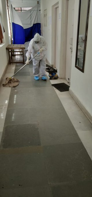 Disinfection, Sanitation,BMW, Housekeeping with respective checklisting at PTS Quarantine Centre Dwarka, South West , Delhi3
