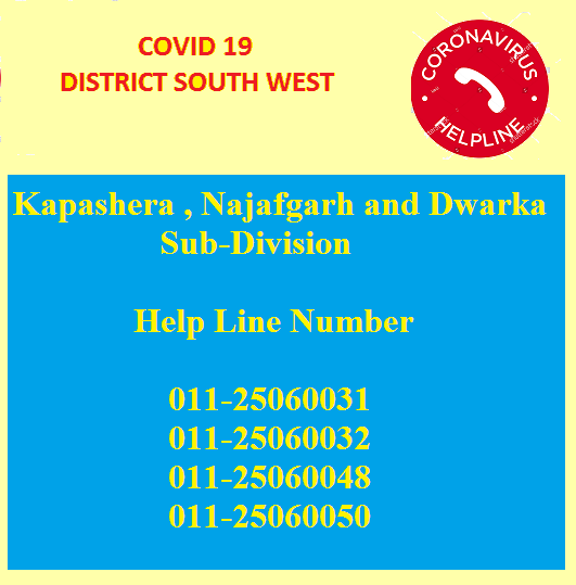 COVID 19 Helpline numbers of Control Room of District ...