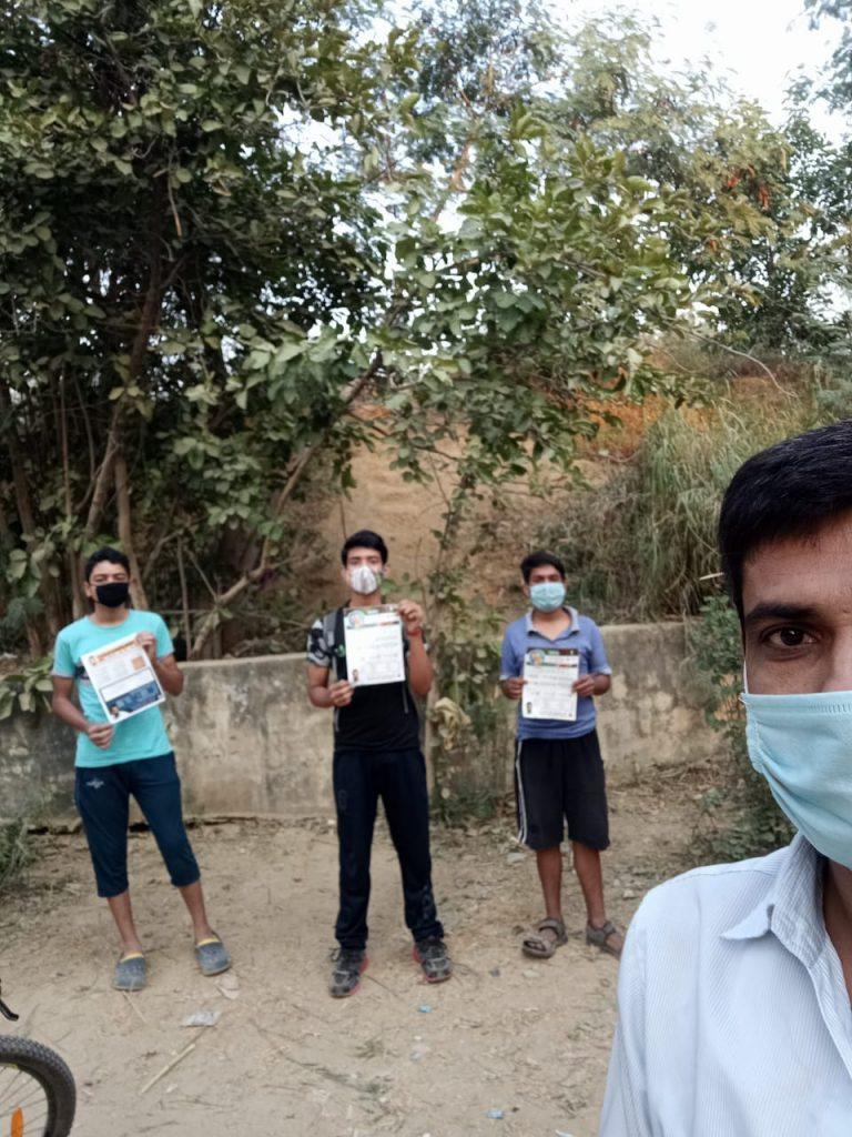 Awareness team at DDA park sec9