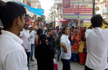 Nukkad Natak on EVP at Najafgarh 2