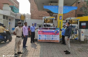 wareness team visiting Public gathering points such such Banks ,petrol pumps, gas sgency etc.6