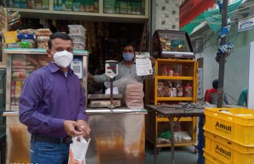 Early morning ,awareness team visiting various milk booths and tea stalls in Palam Area.1