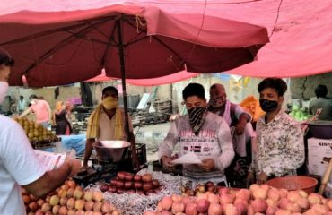 awareness team at whole sale Fruit and 👇🏼vegetable market2