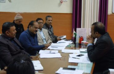 DM Meetting with NIC Officers on Aspirational District