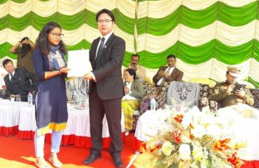Winners for essay competitions conducted under Arunachal Rising campaign were presented with mementos, certificates and cash award on the occassion of 70th Republic Day celebrations at Yupia HQ