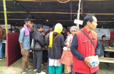 Sarkar Apke Dwar camp being held today at Bormai, Balijan ADC circle for the benefit of villagers.