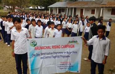 Teachers of Govt Higher Secondary School and Secondary schools engaged as Communicators to desseminate information of Central and State flagships programmes to school children under Arunachal Rising Campaign are doing their duty smoothly in all schools.
