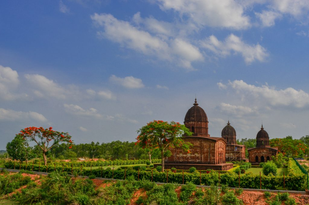 long view of temple at Bishnupur